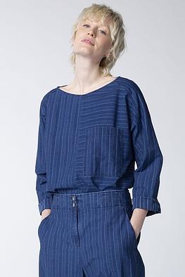 Blouse Evene / 100% Striped Cotton Denim