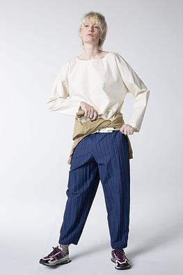 Trousers Pinyin / 100% Striped Cotton Denim